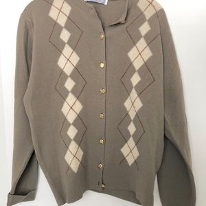 VTG Burberry Argyle Cardigan Sweater